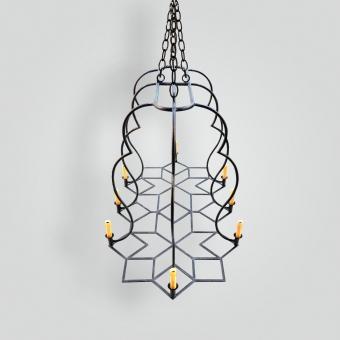 90545 cda deutsch dining chandelier - ADG Lighting Collection