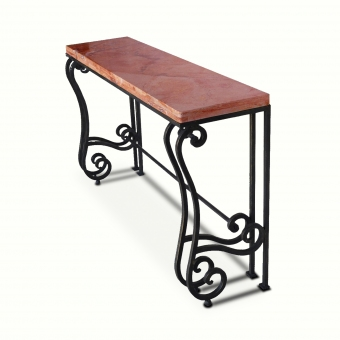 10301-irst-ta-transitional-console-stone-top-iron-console-adg-lighting-collection