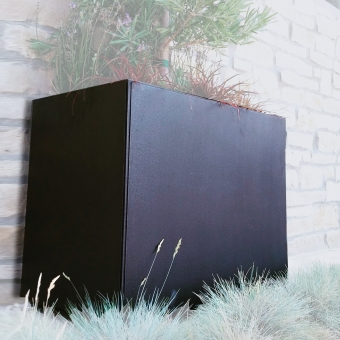 14000-Black-planter-with-plant-ADG-Lighting-Collection