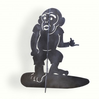 8976-surf-monkey-brushed-aluminum-water-jet-cut-adg-lighting-collection