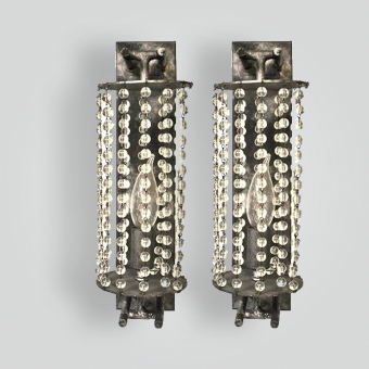5185-cb1-bt-s-ba-averys-crystal-beaded-sconce - ADG Lighting Collection