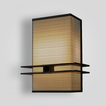 7766-cb8-stch-p-ba Square Mesh Wall Sconce - ADG Lighting Collection