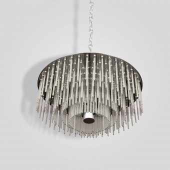 8670-8-br-x Pyrex Rod Pendant - ADG Lighting Collection
