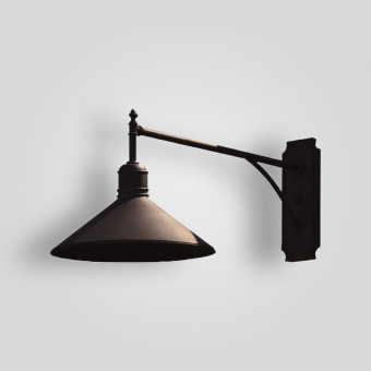 80598-mb1-ir-w-ba-side-view-brass-shade-wall - ADG Lighting Collection