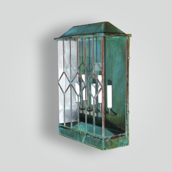 2013-cb5-br-sh-bound-glass-leaded-glass-contemporary-lantern - ADG Lighting Collection
