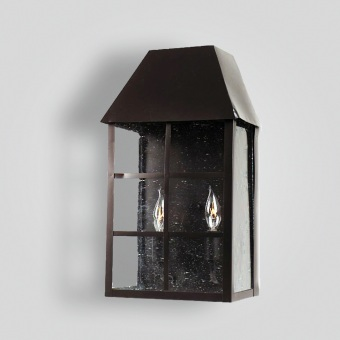 214-cb2-br-w-sh Bar Panel Over Glass Wall Lantern -  ADG Lighting Collection
