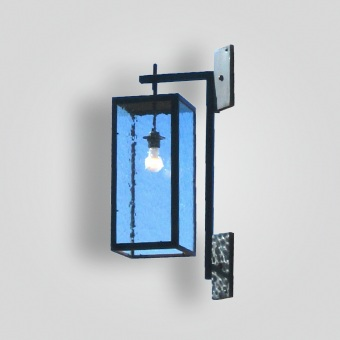 291-mb1-br-w-shba Blue Glass Lantern (Available in clear) - ADG Lighting Collection