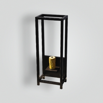 5030-mb1-ir-w-ba-wrought-iron-open-frame-wall-sconce - ADG Lighting Collection