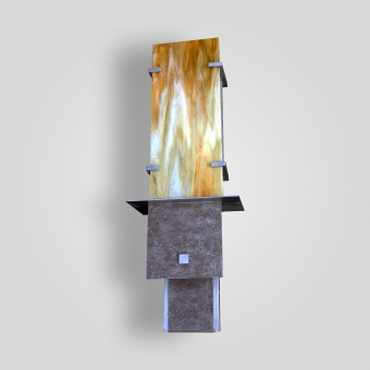 5062-mb1-st-s-sh-honey-glass-wall-sconce-honey-glass-wall-sconce - ADG Lighting Collection