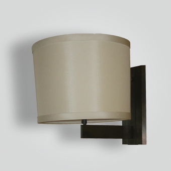 5230-mb1-br-s-sh-silk-shade-sconce - ADG Lighting Collection