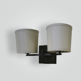 5270-cb2-br-s-sh-silk-shade-sconce - ADG Lighting Collection