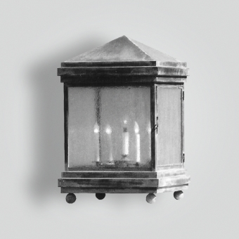 670-cb5-p-sh-square-pilaster-lantern - ADG Lighting Collection