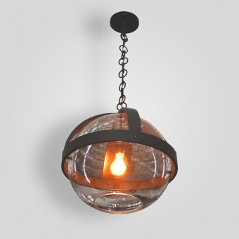 7050-mb1-ir-h-ba-pyrex-glass-pendant-iron-strap - ADG Lighting Collection