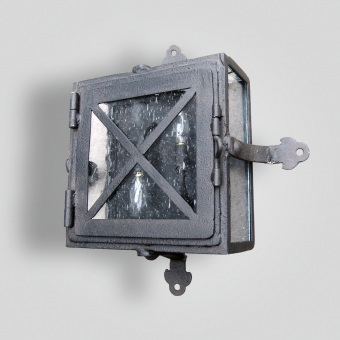 7112-cb2-ir-w-ba-Iron-Sconce-Square-Wall-Light-with-Iron-Strap-ADG-Lighting-Collection