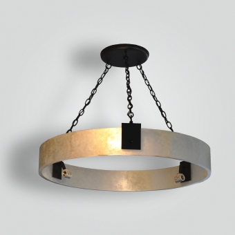 7169-mb6-ir-h-ba-faux-alabaster-ring-chandelier-with-stenciled-medium-base-sockets-and-old-fahsioned-edison-light-bulbs - ADG Lighting Collection