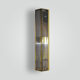7181-mb2-br-s-sh-polished-brass-wall-sconce-with-ribbed-acrylic-panels - ADG Lighting Collection