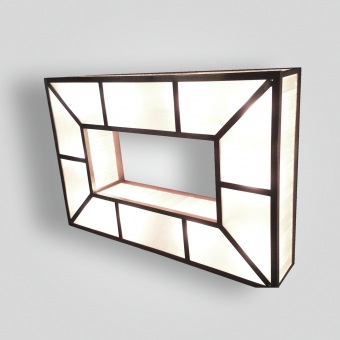 7182-led-st-h-ba-contemporary-ceiling-light-with-sanblasted-ribbed-acrylic-panels-rectangular-ceiling-mount - ADG Lighting Collection