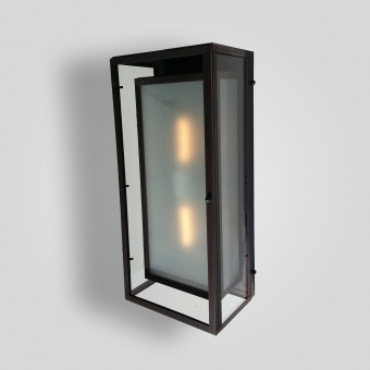 721-mb2-br-w-sh-double-box-wall-lantern - ADG Lighting Collection