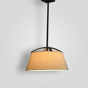 7265-mb1-br-h-ba-linen-shade-pendant - ADG Lighting Collection
