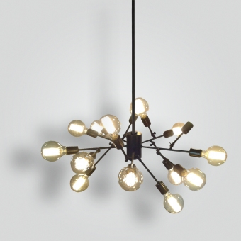 7319-mb14-br-pen-ba-funky-rod-chandelier - ADG Lighting Collection