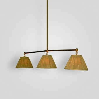 7398-mb3-br-h-ba-pool-table-light-with-silk-shade - ADG Lighting Collection