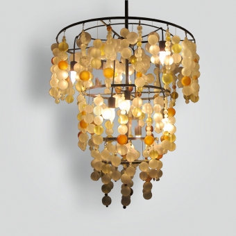 7398-mb6-gl-h-glba Tiered Ball Chandelier - ADG Lighting Collection