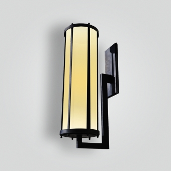 81560-mb1-ss-w-ba-waterjet-cut-stainless-steel-light-with-brass-plating-and-j-arm-wall-lantern - ADG Lighting Collection