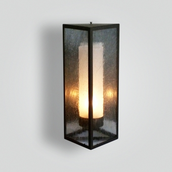 868-triangle-sconce-sandblasted-cylinder-with-seedy-glass-in-front - ADG Lighting Collection