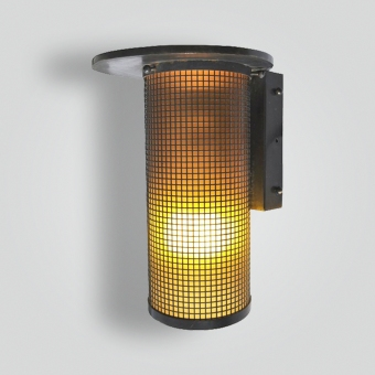 880-mbs-stbr-w-sh-mesh-sconce-1950s - ADG Lighting Collection