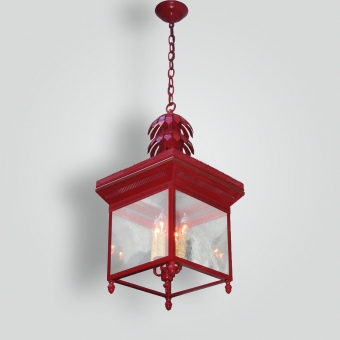 1086-cb4-jc-h-sh-snglish-lantern-painted-red - ADG Lighting Collection