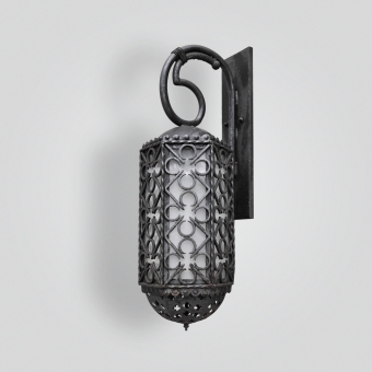 1111-mb1-br-w-ba-forged-brasslantern-with-quadrafoil-ADG-Lighting-Collection