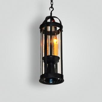 141-cb2-ir-h-ba Pyrex Glass and Metal Pendant - ADG Lighting Collection