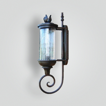 141-mb1-ir-w-ba-ironzz-lantern-with-round-lantern-blown-seedy-glass-forged-iron-ADG-Lighting-Collection