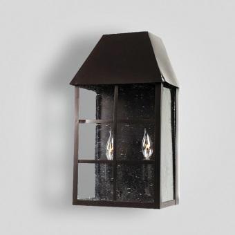 214-cb2-br-w-sh Bar Panel Over Glass Wall Lantern -  ADG Lighting Collection