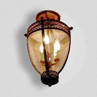 5004-cb3-ir-p-sh-forged-pendantwith-cut-scoll-details-and-pyrex-glass-seedy-glass-ADG-Lighting-Collection