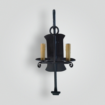 5085-cb2-ir-s-ba-iron-double-candle-stick-sconce-with-giacometti-finish-2-adglighting-collection
