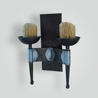 5087-mbb2-ir-s-ba-Gothic-Double-Wall-Sconce-giocametti-finish-ADG-Lighting-Collection