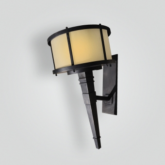5208-led-ss-w-ba-stainless-steel-brass-plated-torch-light-transitional-lighting - ADG Lighting Collection