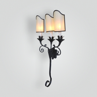 5282-cb3-ir-s-ba-3-light-iron-sconce-with-oiled-parchment-shades-adg-lighting-collection