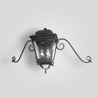 600-cb2-br-w-sh-french-lantern-with-2-lights-and-moustache-scroll-arm-adg-lighting-collection