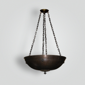 77100-mb3-br-h-sh-bronze-bowl-pendant-light-crossover-light-fixture - ADG Lighting Collection