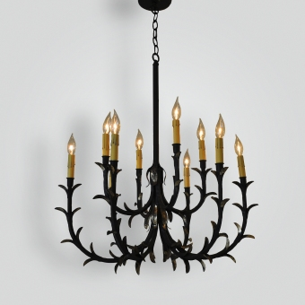 77984 Rose Gold Leafy Chandelier - ADG Lighting Collection