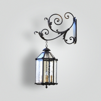 842-cb4-italian-lantern-on-scrolled-arm - ADG Lighting Collection
