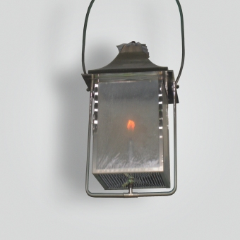 861-ga-brni-h-sh Nickel Plated Gas Lantern - ADG Lighting Collection