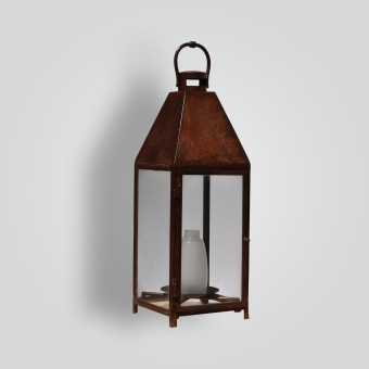 862-mb1-st-pi-ba Copper Plated Landscape Lantern With Frosted Glass - ADG Lighting Collection