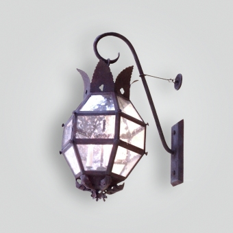 875-cb4-ir-w-sh-six-sideded-large-lantern-with-crown-motif  - ADG Lighting Collection