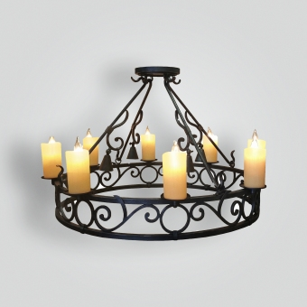 90540-555-mb8-irh-ba-wrought-iron-dining-chandelier - ADG Lighting Collection