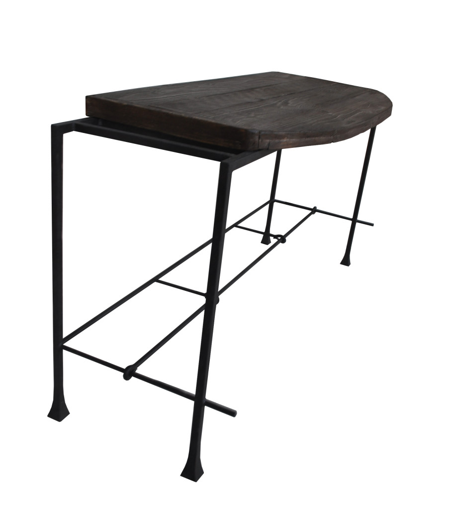 10300 Irwo Ta Washington Console Table Reclaimed Lumber Wrought Iron Console 1 Lighting – ADG Lighting