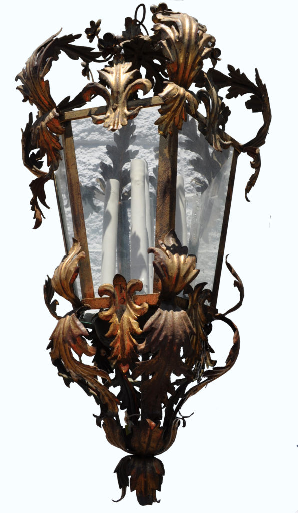 2010 Cb4 St H Sh Italian Pendant Lantern ADG Lighting Addison Mizner Style