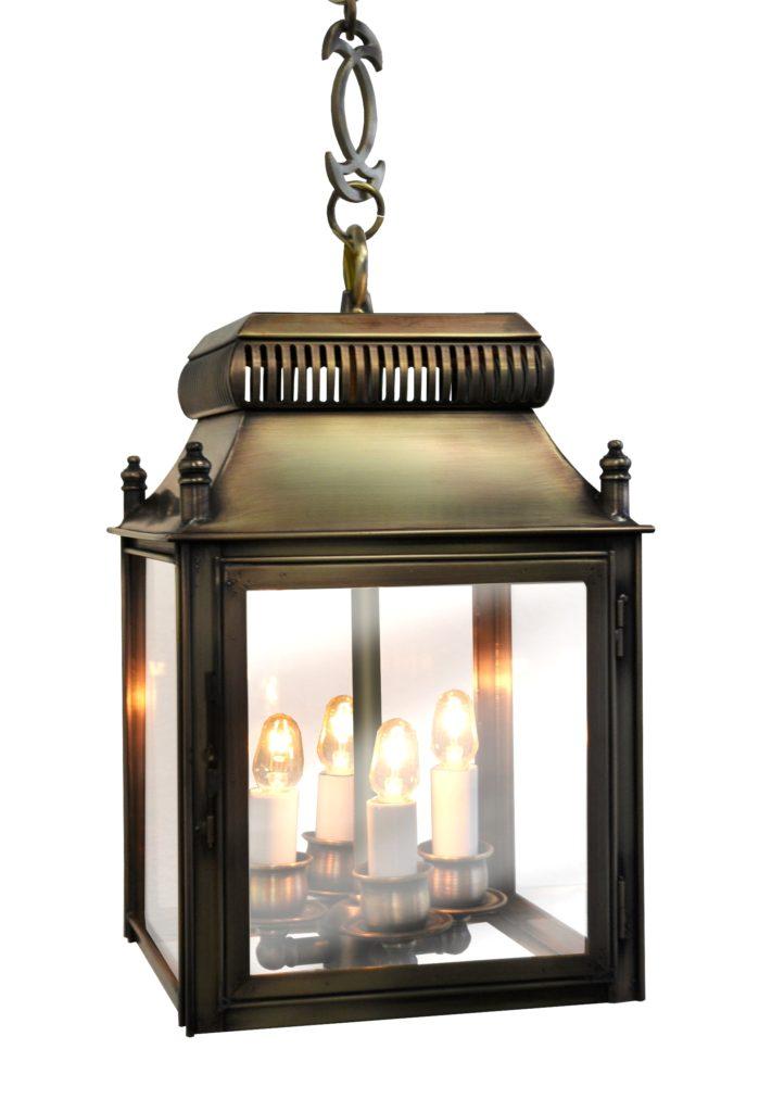 269 Cb4 Br Pen Sh Brooke English Brass Lantern Pendant – ADG Lighting